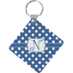 Polka Dots Diamond Key Chain (Personalized)