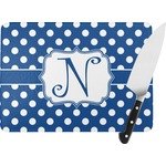 Polka Dots Rectangular Glass Cutting Board (Personalized)
