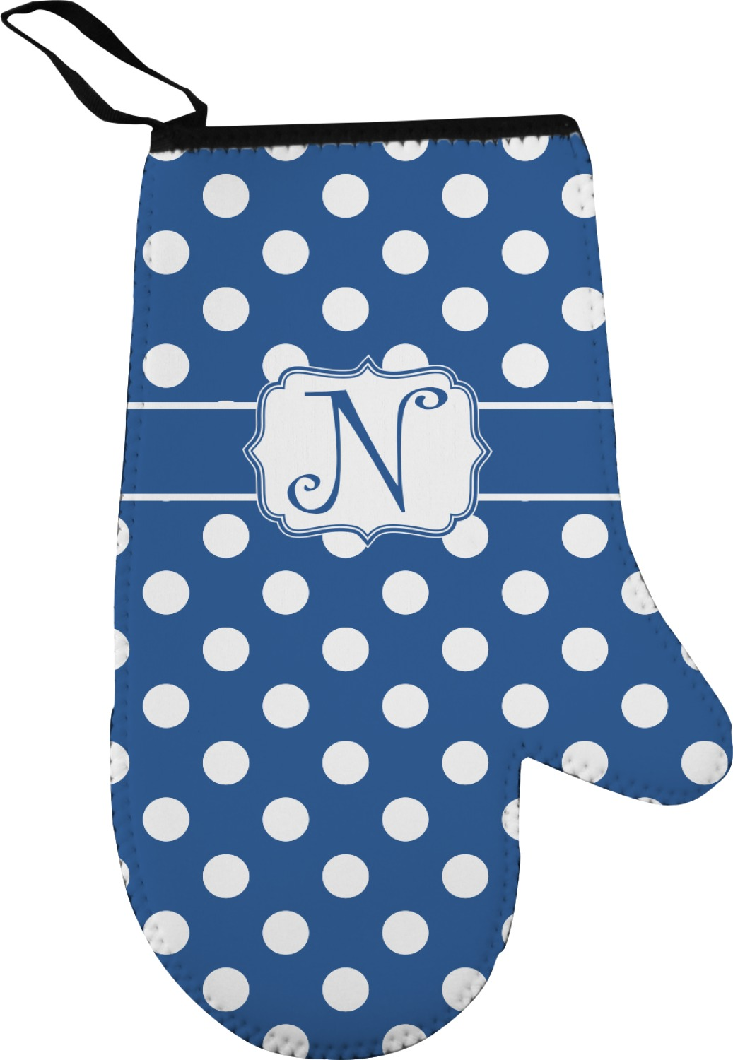 Polka Dots Right Oven Mitt Personalized
