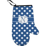 Polka Dots Right Oven Mitt (Personalized)