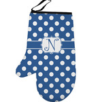 Polka Dots Left Oven Mitt (Personalized)
