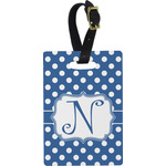 Polka Dots Rectangular Luggage Tag (Personalized)