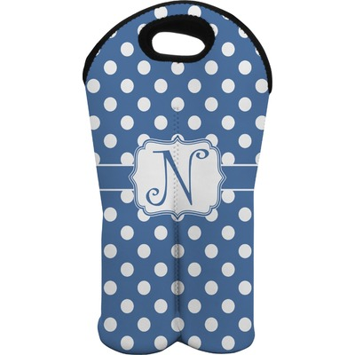 Polka Dots Wine Tote Bag (2 Bottles) (Personalized)