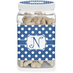 Polka Dots Pet Treat Jar (Personalized)