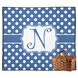 Polka Dots Outdoor Picnic Blanket (Personalized)