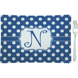 Polka Dots Glass Rectangular Appetizer / Dessert Plate - Single or Set (Personalized)