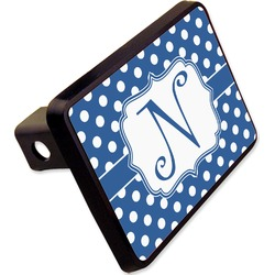 "Polka Dots Rectangular Trailer Hitch Cover - 2"" (Personalized)"