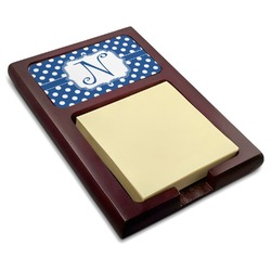Polka Dots Red Mahogany Sticky Note Holder (Personalized)