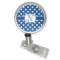 Polka Dots Retractable Badge Reel (Personalized)