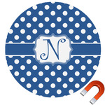 Polka Dots Car Magnet (Personalized)