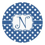 Polka Dots Round Decal (Personalized)