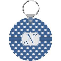 Polka Dots Round Keychain (Personalized)