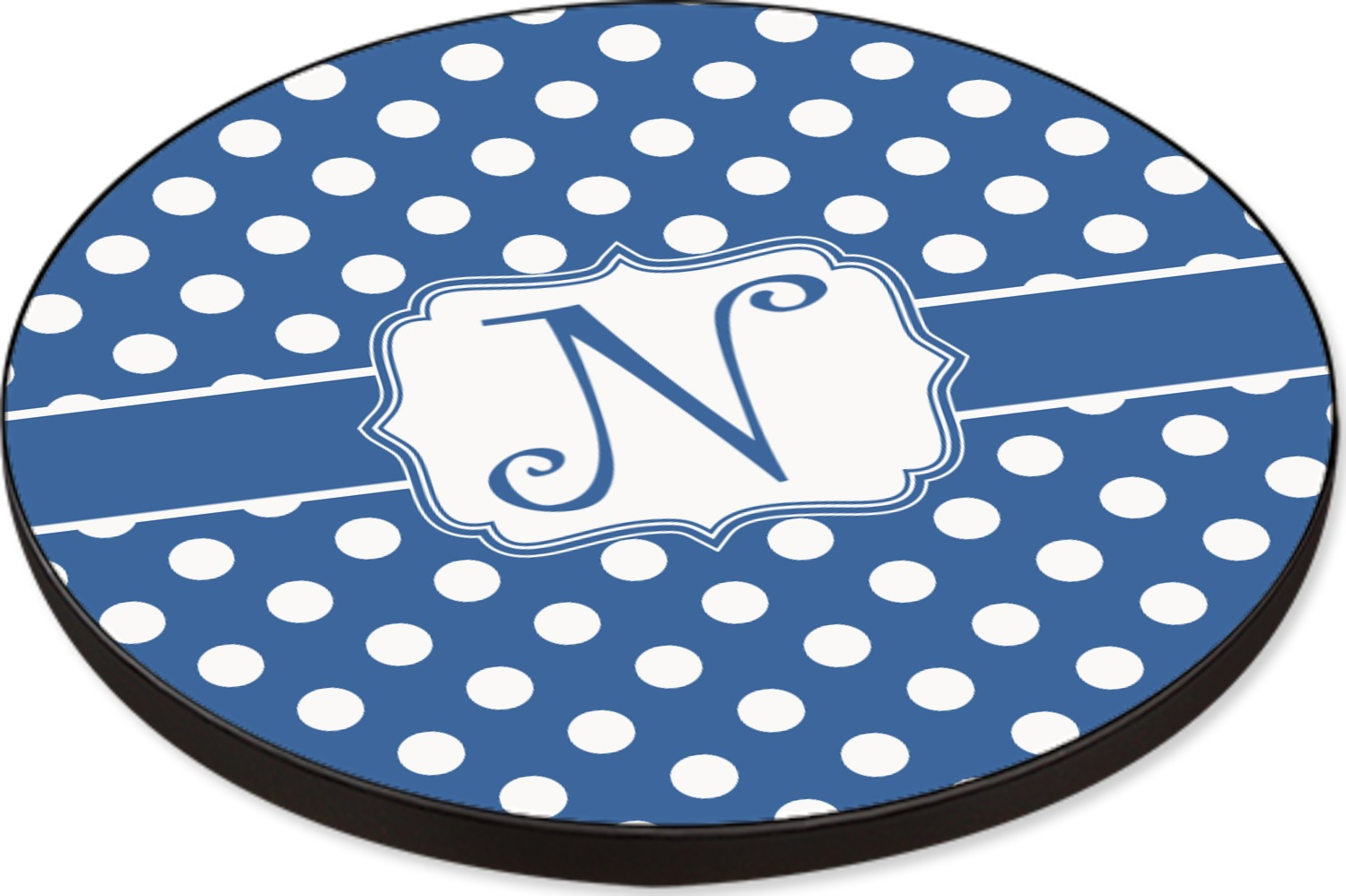 Polka Dots Round Table Top 30 Personalized You