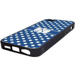 Polka Dots Rubber iPhone 5/5S Phone Case (Personalized)