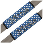 Polka Dots Seat Belt Covers (Set of 2) (Personalized)