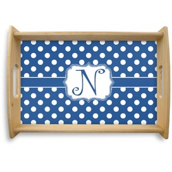 Polka Dots Natural Wooden Tray (Personalized)