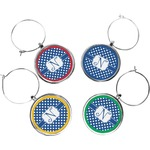 Polka Dots Wine Charms (Set of 4) (Personalized)