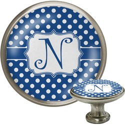 Polka Dots Cabinet Knob (Silver) (Personalized)