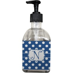 Polka Dots Soap/Lotion Dispenser (Glass) (Personalized)