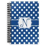 Polka Dots Spiral Bound Notebook (Personalized)