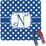 Polka Dots Square Fridge Magnet (Personalized)