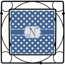 Polka Dots Square Trivet (Personalized)
