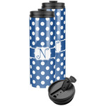 Polka Dots Stainless Steel Skinny Tumbler (Personalized)