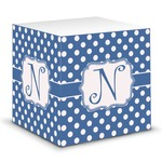 Polka Dots Sticky Note Cube (Personalized)