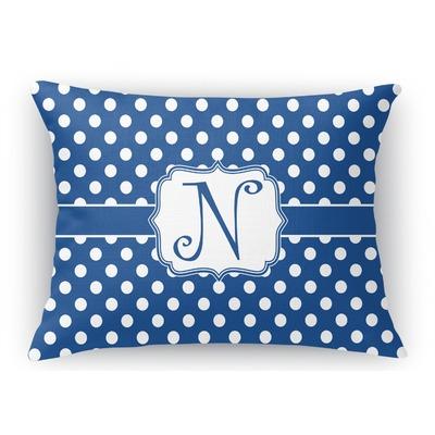 Polka Dots Rectangular Throw Pillow Case (Personalized)