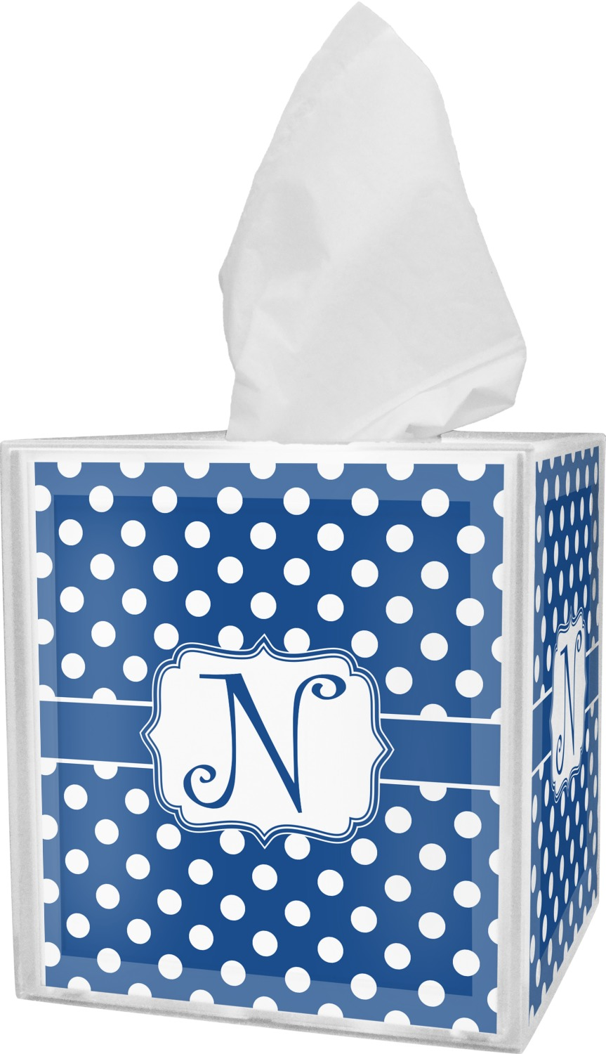 Polka Dots Tissue Box Cover Personalized Youcustomizeit