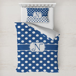 Polka Dots Toddler Bedding w/ Initial