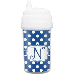 Polka Dots Toddler Sippy Cup (Personalized)