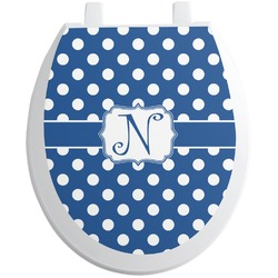 Polka Dots Toilet Seat Decal (Personalized)