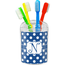 Polka Dots Toothbrush Holder (Personalized)
