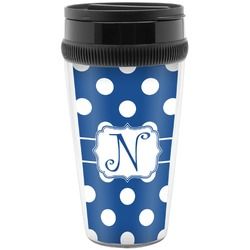 Polka Dots Travel Mug (Personalized)