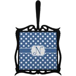 Polka Dots Trivet with Handle (Personalized)