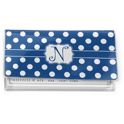 Polka Dots Vinyl Check Book Cover (Personalized)