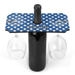 Polka Dots Wine Bottle & Glass Holder (Personalized)