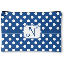 """Polka Dots Zipper Pouch - Small - 8.5""""x6"""" (Personalized)"""
