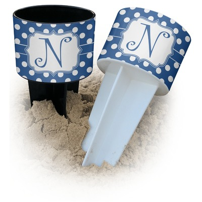 Polka Dots Beach Spiker Drink Holder (Personalized)