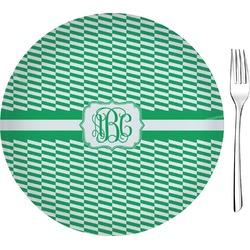 "Zig Zag 8"" Glass Appetizer / Dessert Plates - Single or Set (Personalized)"