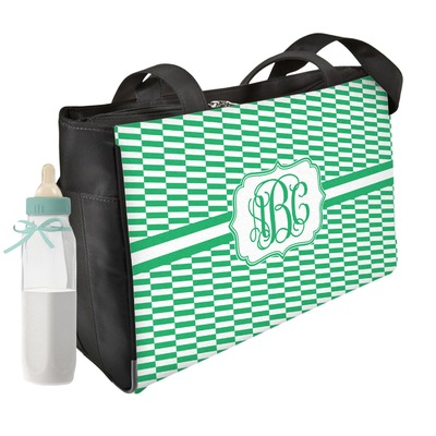 Zig Zag Diaper Bag w/ Monogram