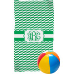 Zig Zag Beach Towel (Personalized)