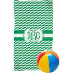 Zig Zag Beach Towel (Personalized)