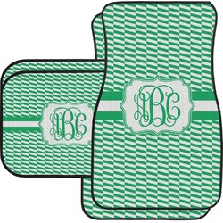 Zig Zag Car Floor Mats Set - 2 Front & 2 Back (Personalized)
