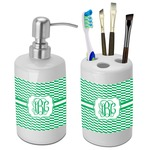 Zig Zag Bathroom Accessories Set (Ceramic) (Personalized)
