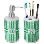 Zig Zag Bathroom Accessories Set (Ceramic) (Personalized)
