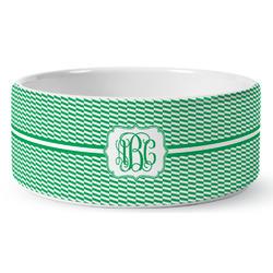 Zig Zag Ceramic Pet Bowl (Personalized)