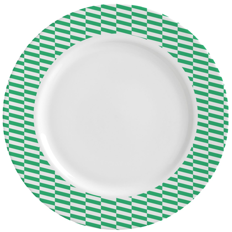 Zig Zag Kitchen: Zig Zag Ceramic Dinner Plates (Set Of 4) (Personalized
