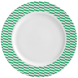 Zig Zag Ceramic Dinner Plates (Set of 4) (Personalized)